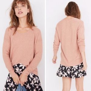 Madewell Kimball Pullover Sweater Dusty Pink Wool